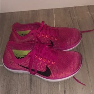 Nike Shoes | Hot Pink Nike Free Runs